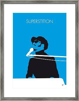 No039 My Stevie Wonder Minimal Music Poster Framed Print by Chungkong Art
