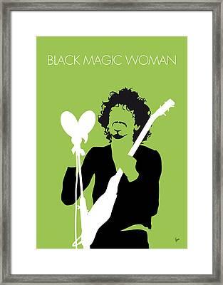 No046 My Santana Minimal Music Poster Framed Print by Chungkong Art