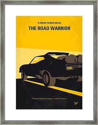 No051 My Mad Max 2 Road Warrior Minimal Movie Poster Framed Print by Chungkong Art
