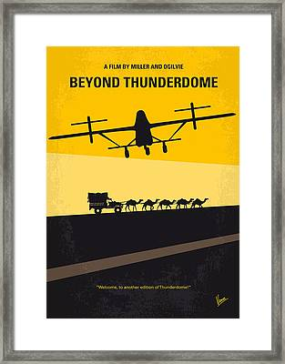 No051 My Mad Max 3 Beyond Thunderdome Minimal Movie Poster Framed Print by Chungkong Art