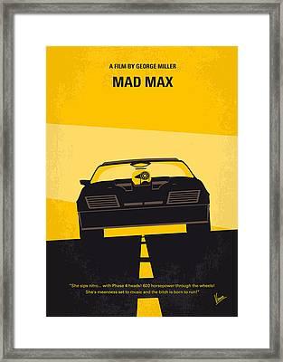 No051 My Mad Max Minimal Movie Poster Framed Print by Chungkong Art