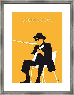No054 My Johnny Lee Hooker Minimal Music Poster Framed Print by Chungkong Art