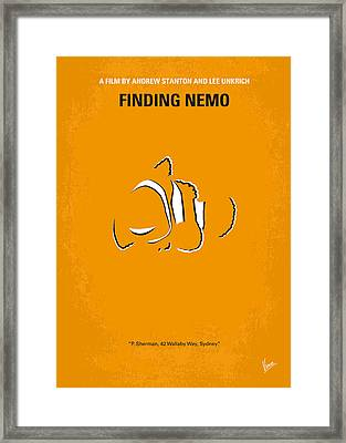No054 My Nemo Minimal Movie Poster Framed Print by Chungkong Art