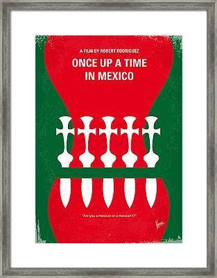 No058 My Once Upon A Time In Mexico Minimal Movie Poster Framed Print by Chungkong Art