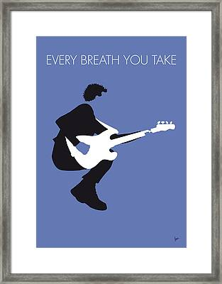 No058 My The Police Minimal Music Poster Framed Print by Chungkong Art