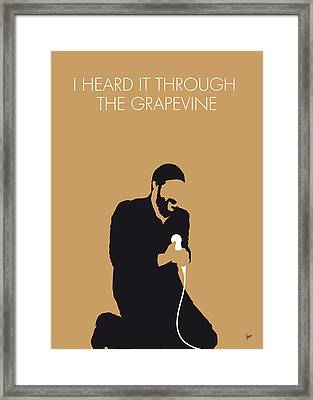 No060 My Marvin Gaye Minimal Music Poster Framed Print by Chungkong Art