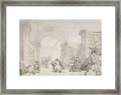 No.0613 The West Room And The Dome Room Framed Print by Thomas Rowlandson