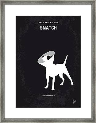 No079 My Snatch Minimal Movie Poster Framed Print by Chungkong Art