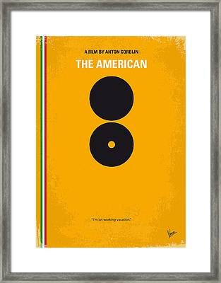 No088 My The American Minimal Movie Poster Framed Print by Chungkong Art
