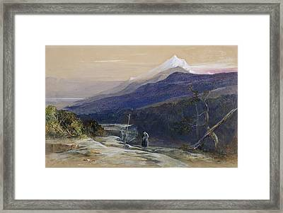 Mount Athos, 1857 Framed Print by Edward Lear