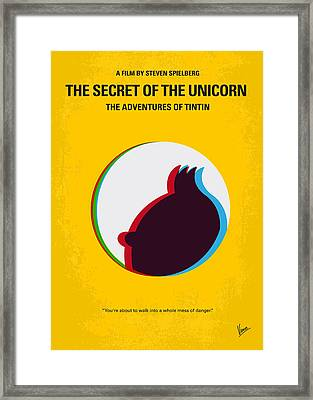 No096 My Tintin-3d Minimal Movie Poster Framed Print by Chungkong Art
