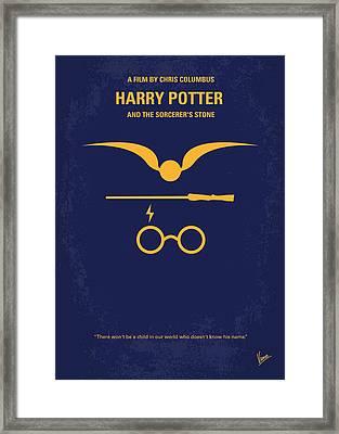 No101 My Harry Potter Minimal Movie Poster Framed Print by Chungkong Art
