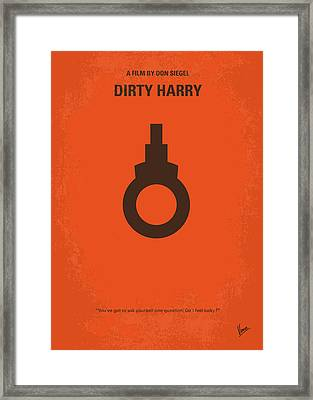 No105 My Dirty Harry Movie Poster Framed Print by Chungkong Art