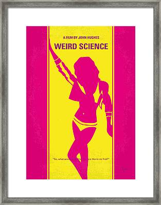 No106 My Weird Science Minimal Movie Poster Framed Print by Chungkong Art