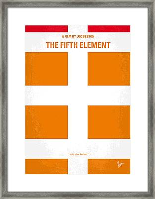 No112 My Fifth Element Minimal Movie Poster Framed Print by Chungkong Art