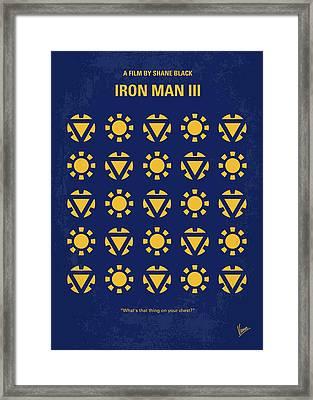 No113-3 My Iron Man 3 Minimal Movie Poster Framed Print by Chungkong Art