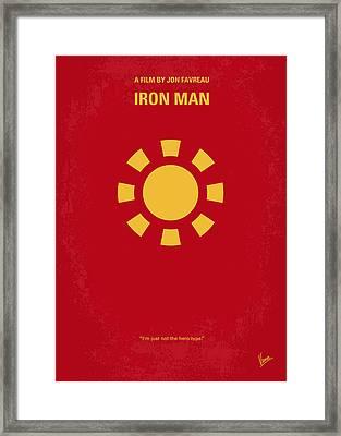 No113 My Iron Man Minimal Movie Poster Framed Print by Chungkong Art