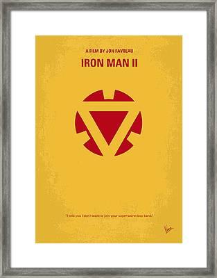No113 My Iron Man Minimal Movie Posterno113-2 My Iron Man 2 Minimal Movie Poster Framed Print by Chungkong Art