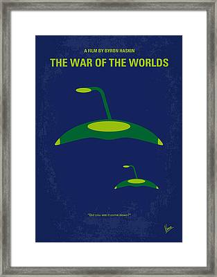 No118 My War Of The Worlds Minimal Movie Poster Framed Print by Chungkong Art