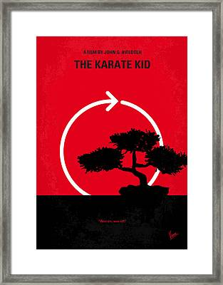 No125 My Karate Kid Minimal Movie Poster Framed Print by Chungkong Art