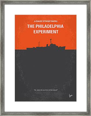 No126 My The Philadelphia Experiment Minimal Movie Poster Framed Print by Chungkong Art