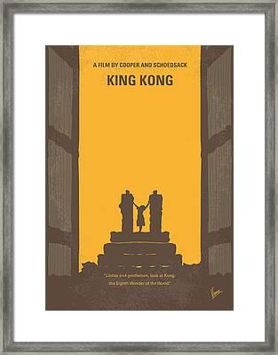 No133 My King Kong Minimal Movie Poster Framed Print by Chungkong Art