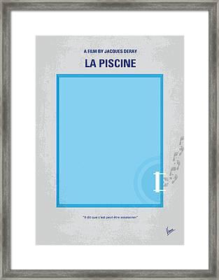 No137 My La Piscine Minimal Movie Poster Framed Print by Chungkong Art