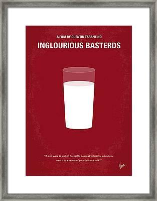 No138 My Inglourious Basterds Minimal Movie Poster Framed Print by Chungkong Art
