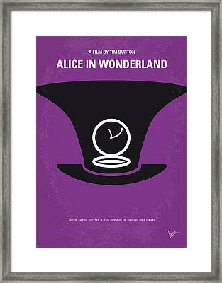 No140 My Alice In Wonderland Minimal Movie Poster Framed Print by Chungkong Art