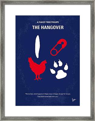 No145 My The Hangover Part 1 Minimal Movie Poster Framed Print by Chungkong Art