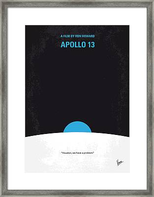 No151 My Apollo 13 Minimal Movie Poster Framed Print by Chungkong Art