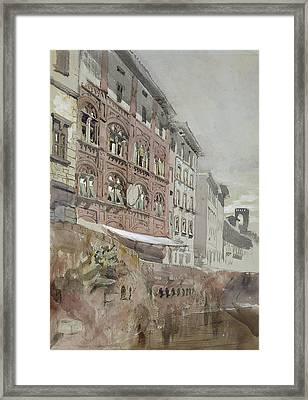 No.1590 Palazzo Agostini, Pisa, 1845 Framed Print by John Ruskin