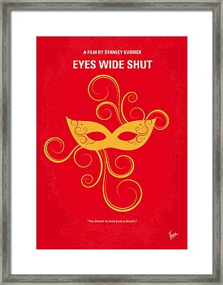 No164 My Eyes Wide Shut Minimal Movie Poster Framed Print by Chungkong Art