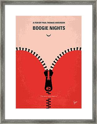 No167 My Boogie Nights Minimal Movie Poster Framed Print by Chungkong Art