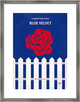 No170 My Blue Velvet Minimal Movie Poster Framed Print by Chungkong Art