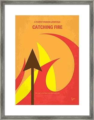 No175-2 My Catching Fire - The Hunger Games Minimal Movie Poster Framed Print by Chungkong Art