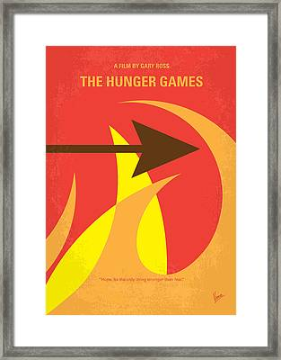 No175 My Hunger Games Minimal Movie Poster Framed Print by Chungkong Art