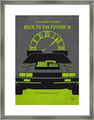 No183 My Back To The Future Minimal Movie Poster-part IIi Framed Print by Chungkong Art