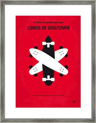 No188 My The Lords Of Dogtown Minimal Movie Poster Framed Print by Chungkong Art