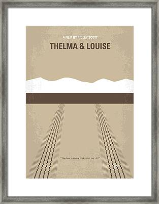 No189 My Thelma And Louise Minimal Movie Poster Framed Print by Chungkong Art