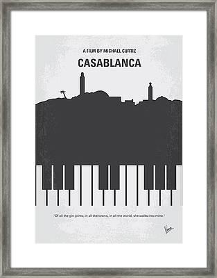 No192 My Casablanca Minimal Movie Poster Framed Print by Chungkong Art