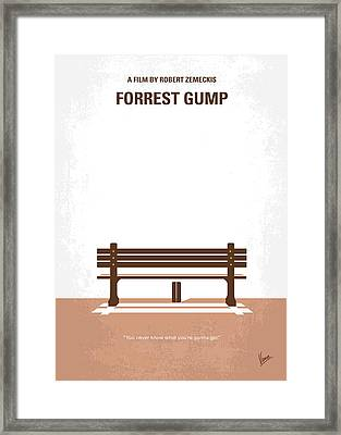 No193 My Forrest Gump Minimal Movie Poster Framed Print by Chungkong Art