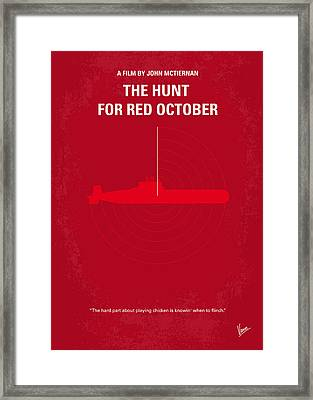 No198 My The Hunt For Red October Minimal Movie Poster Framed Print by Chungkong Art