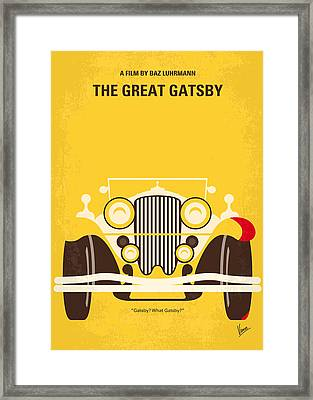 No206 My The Great Gatsby Minimal Movie Poster Framed Print by Chungkong Art
