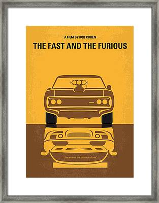 No207 My The Fast And The Furious Minimal Movie Poster Framed Print by Chungkong Art