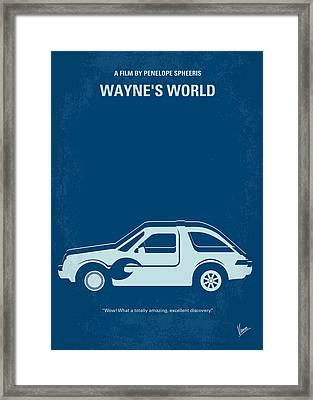 No211 My Waynes World Minimal Movie Poster Framed Print by Chungkong Art