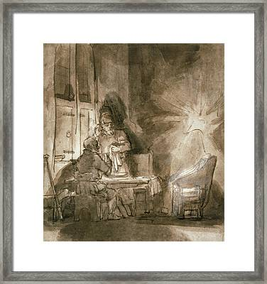 No.2139 Supper At Emmaus, C.1648-9 Framed Print by Rembrandt Harmensz. van Rijn