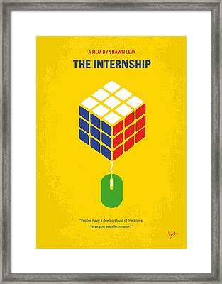 No215 My The Internship Minimal Movie Poster Framed Print by Chungkong Art