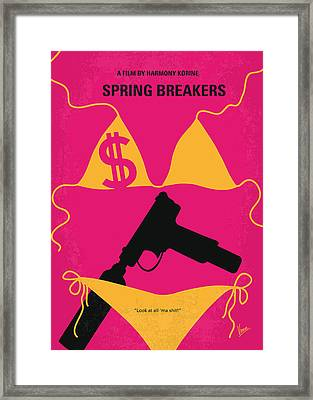 No218 My Spring Breakers Minimal Movie Poster Framed Print by Chungkong Art