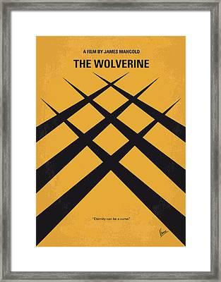 No222 My Wolverine Minimal Movie Poster Framed Print by Chungkong Art